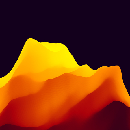 Abstract Landscape Background.