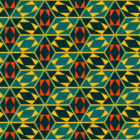 Seamless mosaic pattern. Geometric background. Vector Illustration.