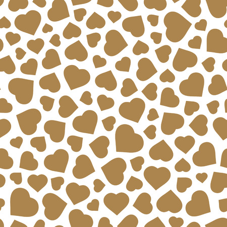 clutter: Hearts. Seamless pattern. Valentines day background. Vector illustration. Illustration