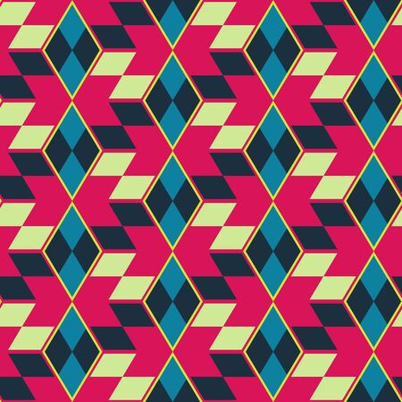seamless: Seamless mosaic pattern. Geometric background. Vector Illustration.