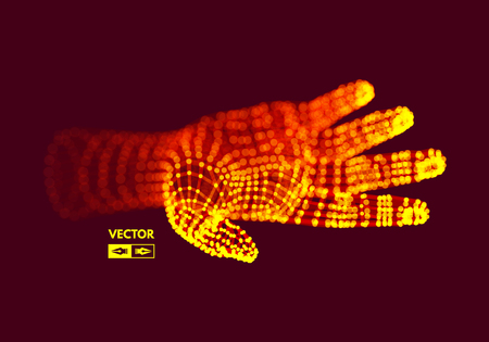 Human Arm. Hand Model. Connection structure. Future technology concept. Illustration