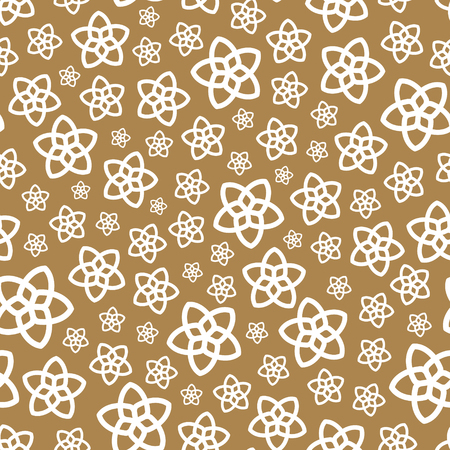 Seamless background with flowers. Flower theme. Elegant template for fashion prints. Vector illustration.