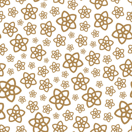 floral: Seamless background with flowers. Flower theme. Elegant template for fashion prints. Vector illustration.