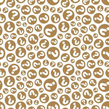 Questions Seamless pattern Vector illustration.