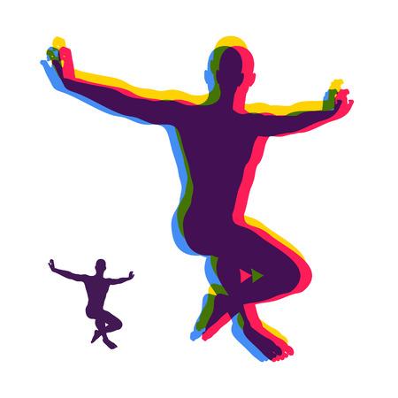 Гимнастка. Силуэт танцовщицы. Гимнастика мероприятия для Icon Здоровье и фитнес сообщества. Символ Спорт. Векторные иллюстрации.