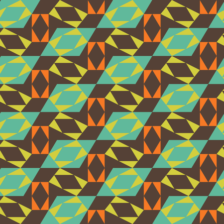A colorful Seamless mosaic pattern. Geometric background. Vector Illustration.