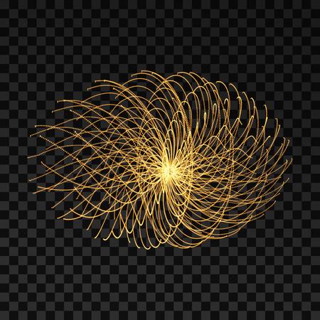 Array mit dynamischen Partikeln. 3D-Technologie-Stil. Abstrakter Hintergrund. Vektor-Illustration. Standard-Bild - 89695568