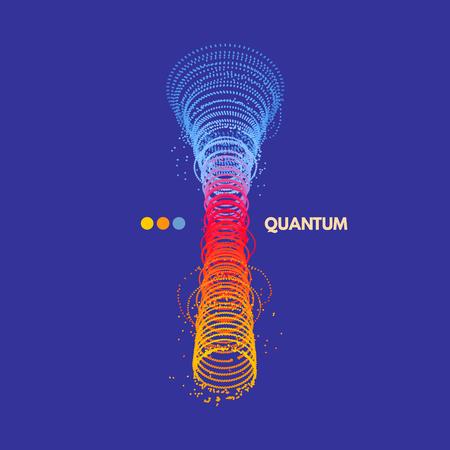 動的粒子の配列。ベクトル サウンド ウェーブ。3 d 技術のスタイル。抽象的な背景。ベクトルの図。