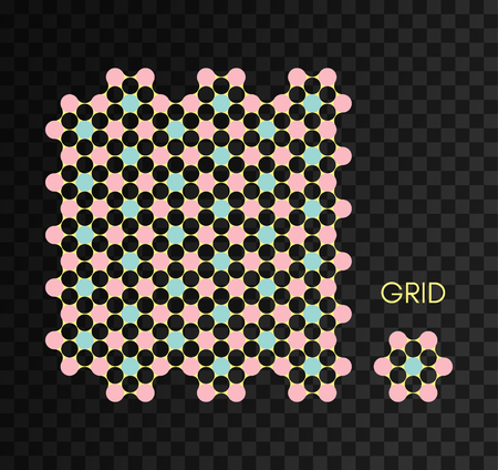 Constructor for make grid background. Vector illustration for design.