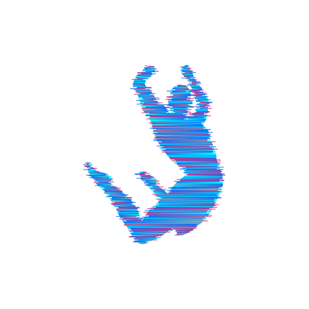 Gymnast. Silhouette of a dancer. Gymnastics activities for icon health and fitness community. Sport symbol, vector illustration. Banque d'images - 90882306