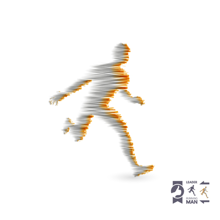 Running man. Design for sport and business. Sport concept. Vector illustration.