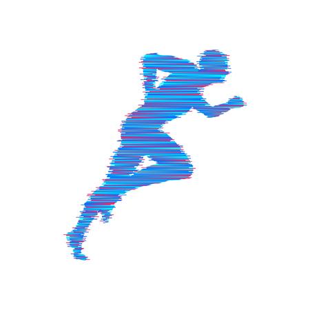 Running man Design for sport and business Vector illustration.