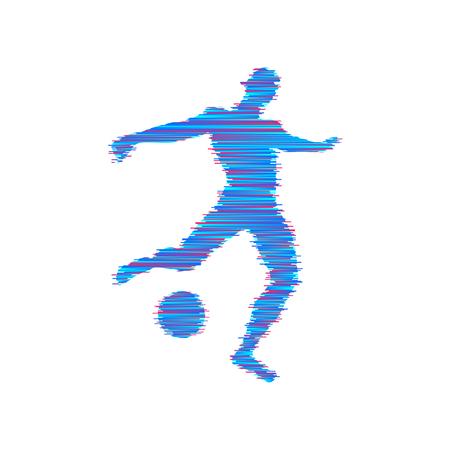 Joueur de football avec un ballon illustration vectorielle Banque d'images - 91123233