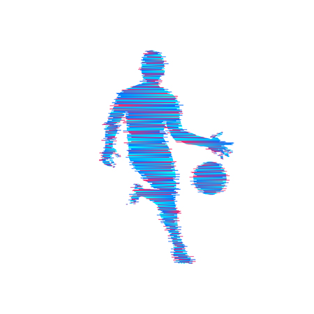 Basketball player with ball Vector illustration. Illustration