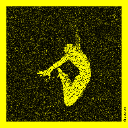 Gymnast Stippled vector illustration.