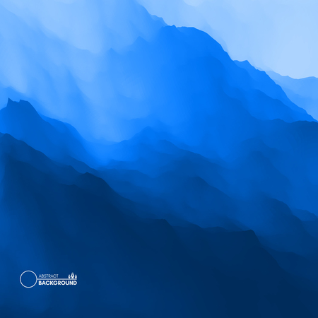 Mountain landscape Vector illustration Abstract background.