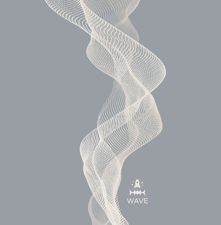 Wave design Abstract vector illustration