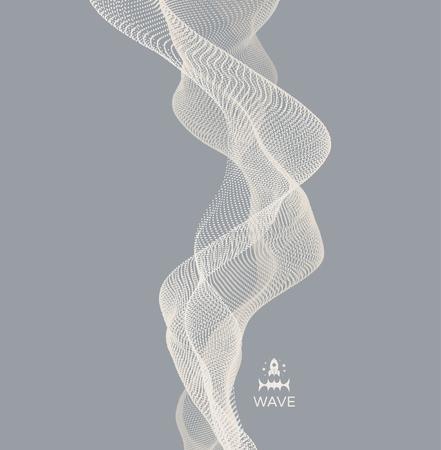 Conception de vague Illustration de vecteur abstraite Vecteurs