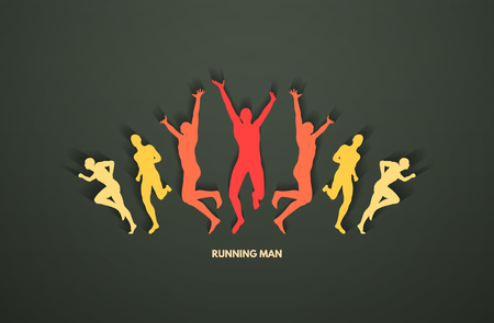 A group of runners Vector illustration.