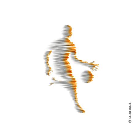 Basketball player with ball. Sport symbol. Vector illustration.  向量圖像