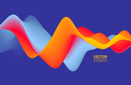 Colorful abstract background. Dynamic effect. Futuristic technology style. Motion vector illustration.