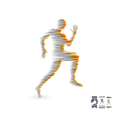 Running man. Design for sport and business. Sport concept. Vector illustration.