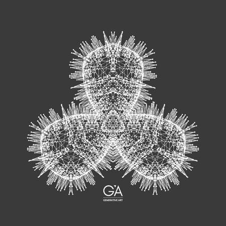 Wire frame polygonal illustration