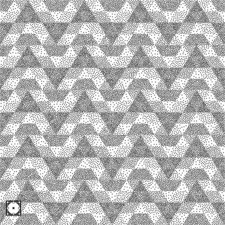 Geometric background. Black and white grainy design. Pointillism pattern. Stippled vector illustration.