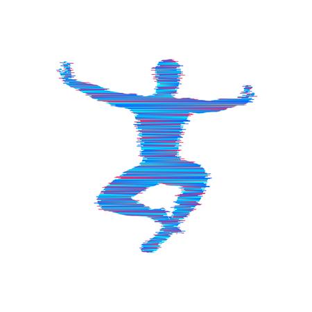 Gymnast. Gymnastics Activities for Icon Health and Fitness Community. Sport Symbol. Vector Illustration. Illustration