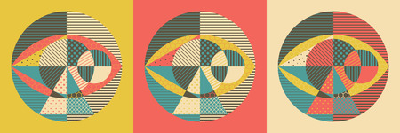 Abstract geometric design vector illustration. Can be used for advertising, marketing, presentation.
