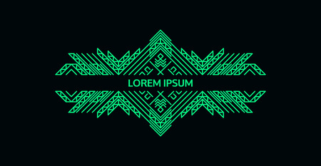 Green elegant luxury design template.
