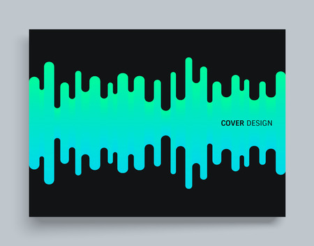 Cover design template with abstract wavy design 向量圖像