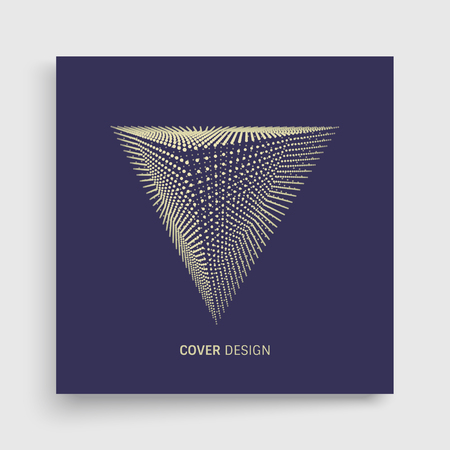 Cover design template of 3d Pyramid