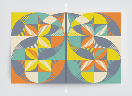Cover design template. Abstract colorful geometric design. Vector illustration.