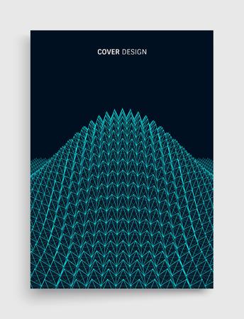 Grid surface outline design illustration  イラスト・ベクター素材