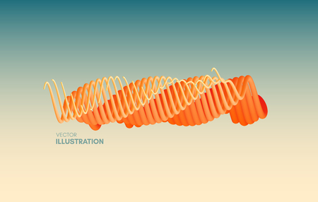 Abstract wavy background for banner, flyer and poster. Dynamic effect. Vector illustration. Cover design template. Can be used for advertising, marketing, presentation. Illustration