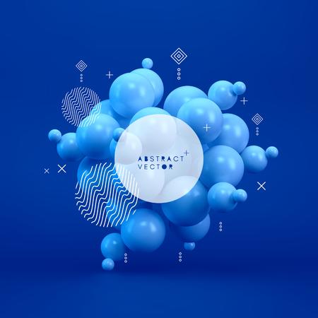 Molecule. 3D concept illustration. Vector template. Illustration