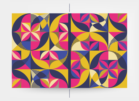 Cover design template. Abstract colorful geometric design. Vector illustration. Can be used for advertising, marketing, presentation. Illustration