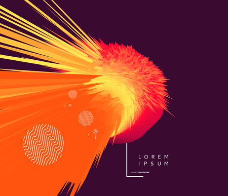 Background with exploding rays. Abstract vector illustration with dynamic effect. Cover design template. Can be used for advertising, marketing and presentation.