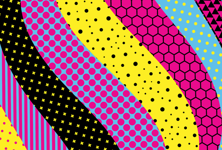 Abstract colorful geometric design. Material design background. Vector illustration. Illustration