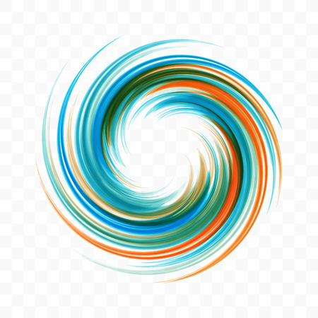 Abstract swirl design element. Spiral, rotation and swirling movement. Vector illustration with dynamic effect.