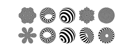 Abstract design element. Optical art. Vector illustration.