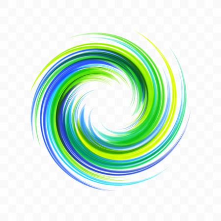 Élément de conception abstraite de tourbillon. Spirale, rotation et mouvement tourbillonnant. Illustration vectorielle avec effet dynamique.