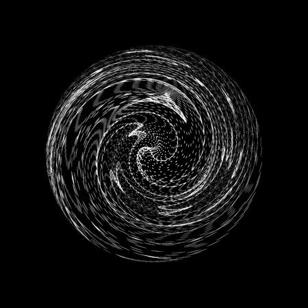 3D abstrakte Kugel. Array mit dynamischen Partikeln. Modernes Wissenschafts- und Technologieelement. Vektorillustration mit dynamischem Effekt. Vektorgrafik