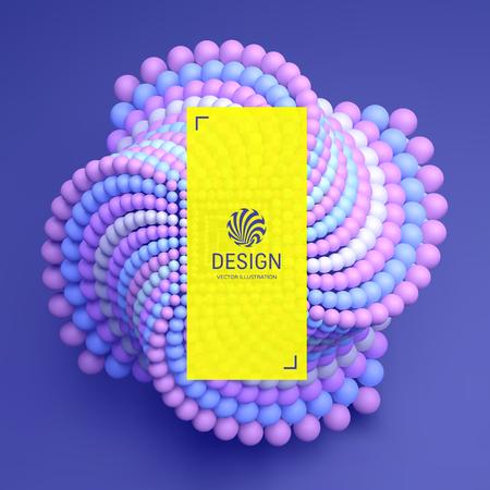 Molecule. 3D concept illustration. Vector template.  イラスト・ベクター素材