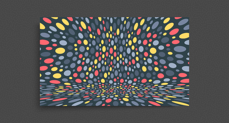 Cover design template. Abstract background with color circles. 3d vector illustration.