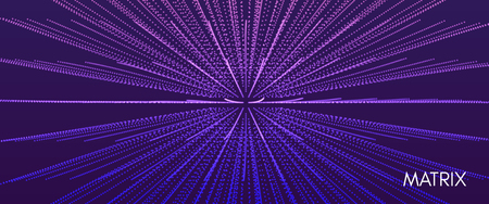 Abstract science or technology background. Array with dynamic particles. Vector illustration. Imagens - 117039767