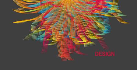Explosion. Abstract background. Vector illustration. Design template. Perspective grid background. Ilustração