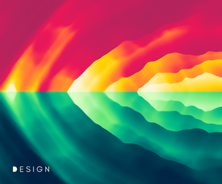 Abstract background with dynamic effect. Motion vector Illustration. Trendy gradients. Can be used for advertising, marketing, presentation.