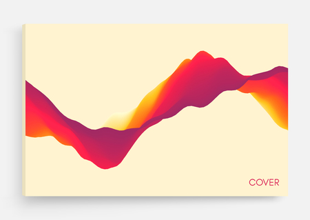 Abstract wavy background for banner, flyer, book cover, poster. Dynamic effect. Vector illustration. Design template. Illustration
